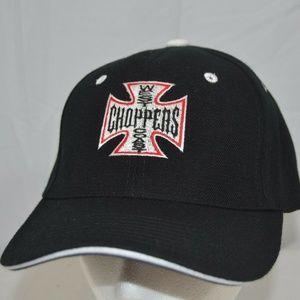 West Coast Chopper Black/White/Red Baseball Cap Ad